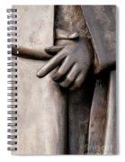 Clasped Hands - Sculpture Garden Nola Spiral Notebook