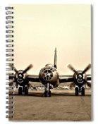 Classic B-29 Bomber Aircraft Spiral Notebook