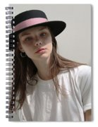 Classic Boater Hat Spiral Notebook