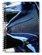 Classic Car Chrome Abstract Reflected Grill Spiral Notebook