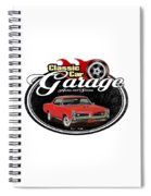 Classic Car Garage With Gto Spiral Notebook
