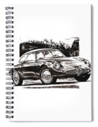 Classic Car In Classic Painting Spiral Notebook