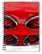 Classic Car Tail Lights Reflection Spiral Notebook