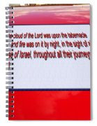 Classic Car With Text Spiral Notebook