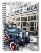Classic Chevrolet Automobile Parked Outside The Store Spiral Notebook