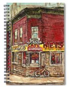 Classic Chinese Restaurant Montreal Memories Silver Dragon Canadian Paintings Carole Spandau         Spiral Notebook