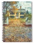 Classic Colonial Home In Autumn Pencil Spiral Notebook