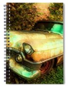 Classic Country Cadillac Painting  Spiral Notebook