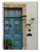 Classic House Entrance In Old Nicosia Spiral Notebook