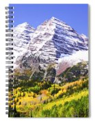 Classic Maroon Bells Spiral Notebook