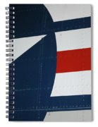 Classic Military Aircraft Abstract- Star 5 Spiral Notebook