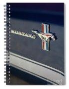 Classic Mustang Logo Closeup Spiral Notebook