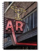 Classic Neon Sign For A Bar Livingston Montana Spiral Notebook
