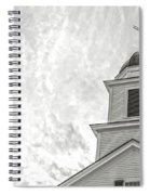 Classic New England Church Etna New Hampshire Spiral Notebook