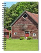 Classic Old Red Barn In Vermont Spiral Notebook