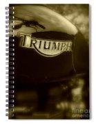 Classic Old Triumph Spiral Notebook