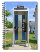 Classic Pay Phone Booth Spiral Notebook