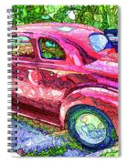 Classic Red Vintage Car Spiral Notebook