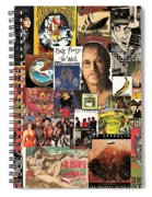 Classic Rock 2 Collage Spiral Notebook
