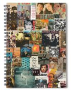 Classic Rock Lp Collage 1 Spiral Notebook