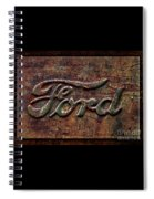 Classic Rusty Ford Pickup Truck Logo Detail Spiral Notebook