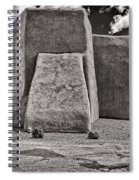 Classic View Of Ranchos Church In B-w Spiral Notebook
