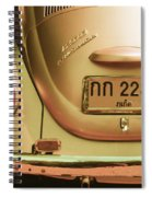Classic Vw Beetle In Thailand Spiral Notebook