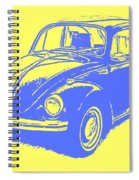 Classic Vw Beetle Tee Blue Ink Spiral Notebook