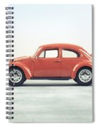 Classic Vw Bug Red Spiral Notebook