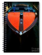 Classic Wooden Boat Spiral Notebook