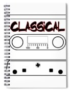 Classical Music Tape Cassette Spiral Notebook