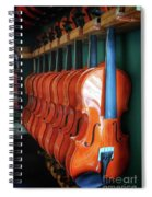 Classical Violins Spiral Notebook