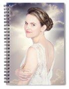 Classy Bride Enjoying Outdoor Wedding Spiral Notebook