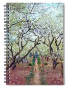 Claude Monet Orchard In Bloom Spiral Notebook