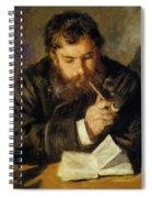 Claude Monet The Reader 1874 Spiral Notebook