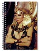 Claudette Colbert In Cleopatra 1934 Spiral Notebook