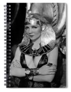 Claudette Colbert In Cleopatra 1934 Spiral Notebook