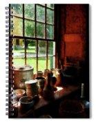 Clay Jars On Windowsill Spiral Notebook
