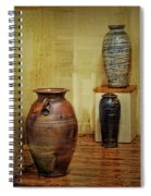 Clay - Wood Spiral Notebook