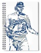 Clayton Kershaw Los Angeles Dodgers Pixel Art 10 Spiral Notebook