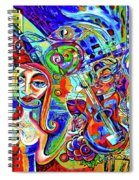 City At Night Music And Wine Abstract Spiral Notebook