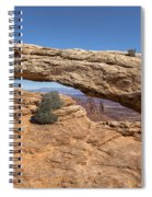 Clear Day At Mesa Arch - Canyonlands National Park Spiral Notebook