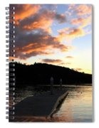 Clear Lake Sunset Spiral Notebook