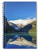 Clear Reflections In The Water At Lake Louise, Canada. Spiral Notebook