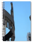 Clear Street Lamp Downtown Chicago Spiral Notebook