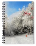 Clearing Skies Christmas Card Spiral Notebook