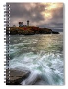 Clearing Storm At Cape Neddick Spiral Notebook