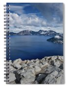 Clearing Storm At Crater Lake Spiral Notebook