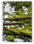 Clearwater Falls And Rapids Spiral Notebook