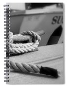Cleat Hitch Boat Art Spiral Notebook